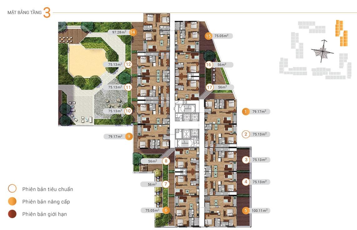 MB tầng 3 akari city tháp block 4