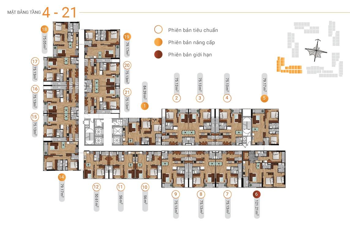 MB tầng 4-21 akari city tháp block 1