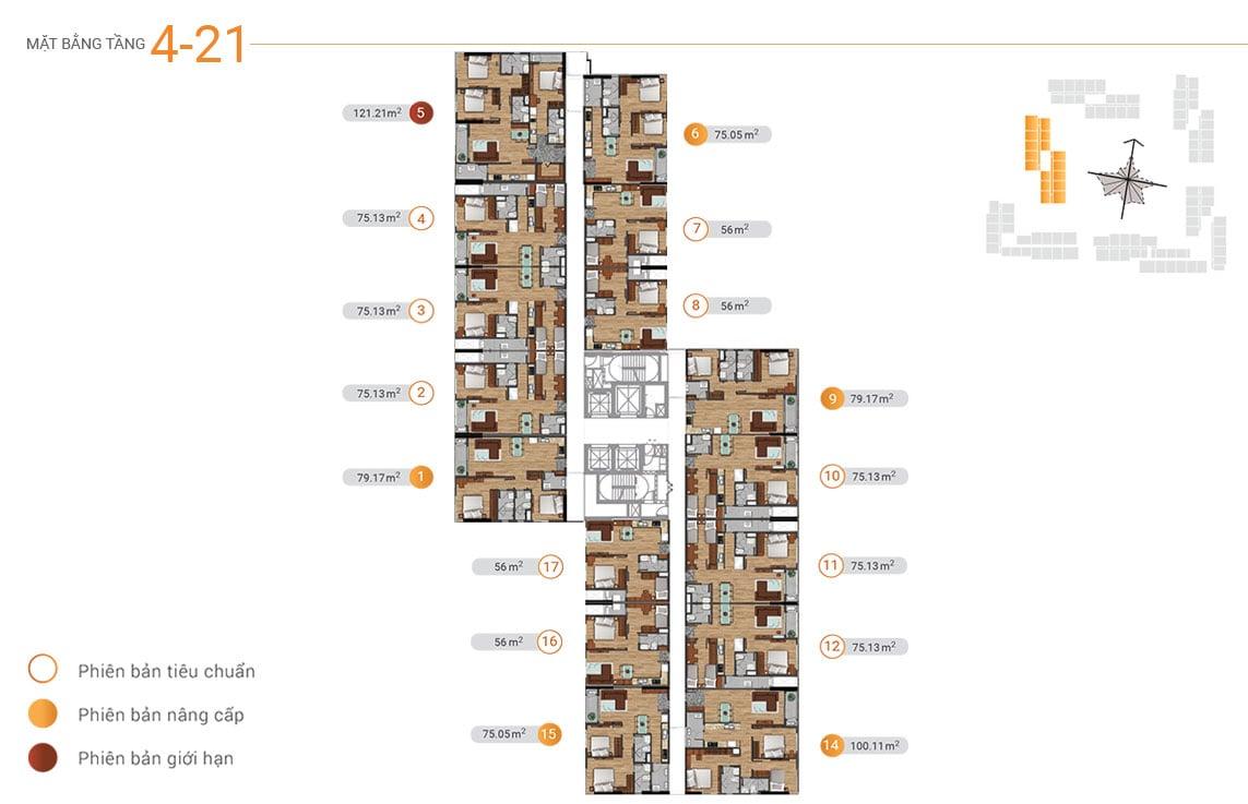 MB tầng 4-21 akari city tháp block 2