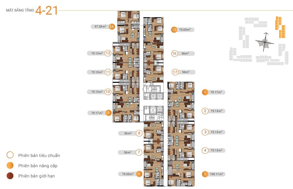 MB tầng 4-21 akari city tháp block 4