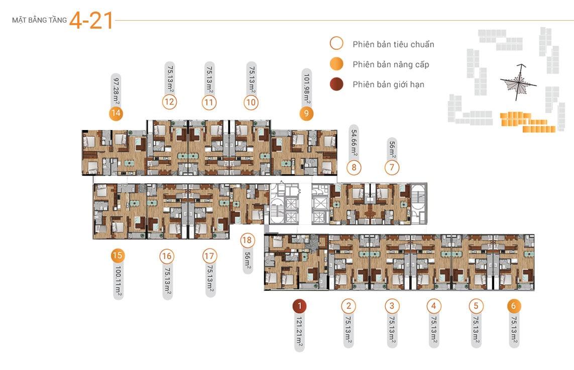 MB tầng 4-21 akari city tháp block 6