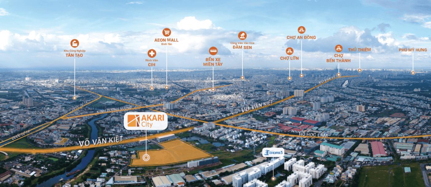 Vị trí Akari City