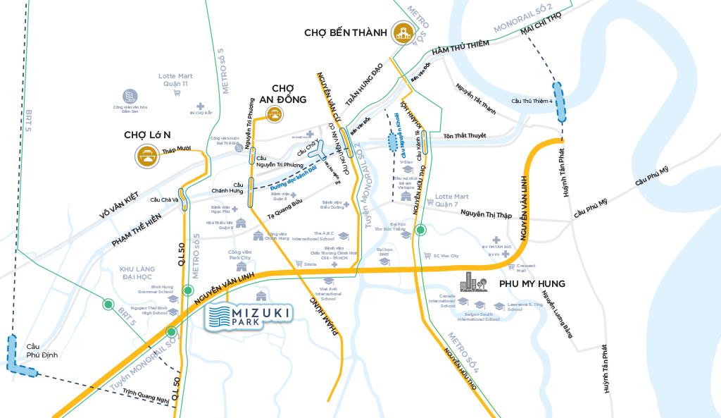 vị trí căn hộ mizuki park