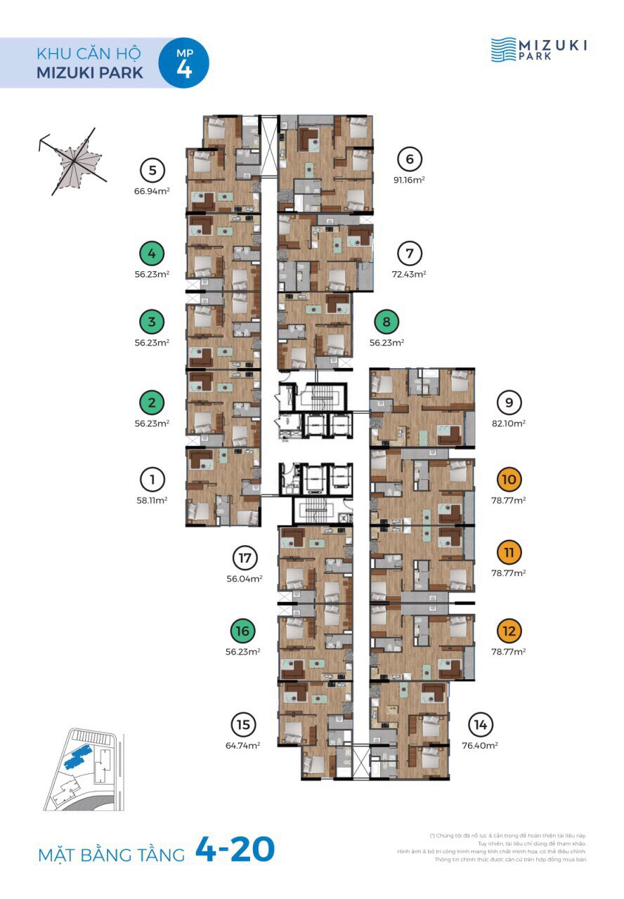 mặt bằng 4-20 tháp mp4 mizuki park