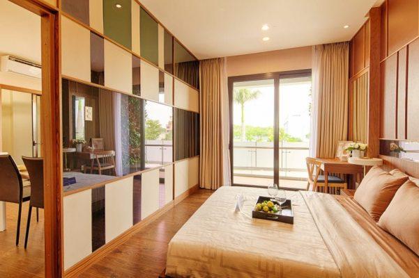 view phòng ngủ 72m2 mizuki park